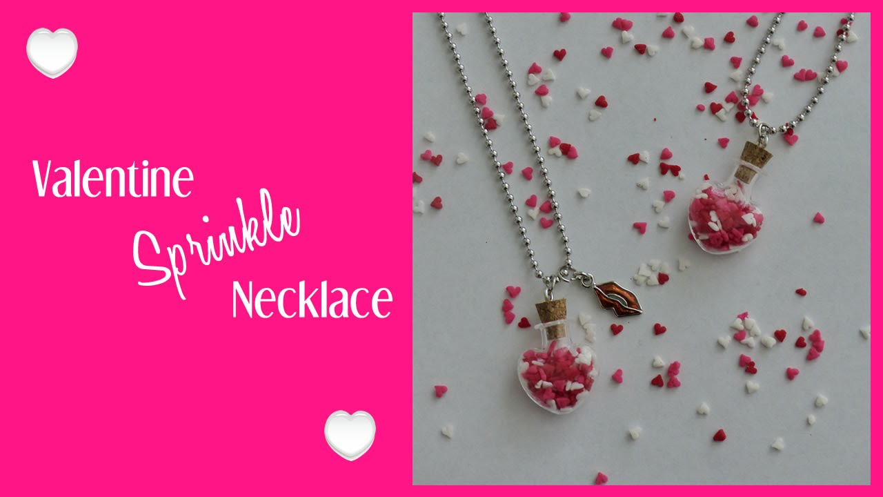 Diy Valentine Necklace Diy Valentines Day Gift Idea Youtube