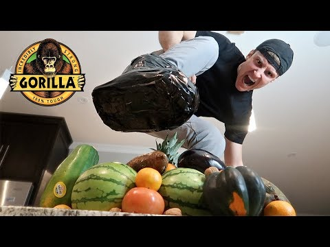 UNBREAKABLE GORILLA TAPE BOOT vs FRUIT NINJA (DANGER ALERT)