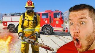 ich spiele GTA 5 als  Feuerwehrmann!