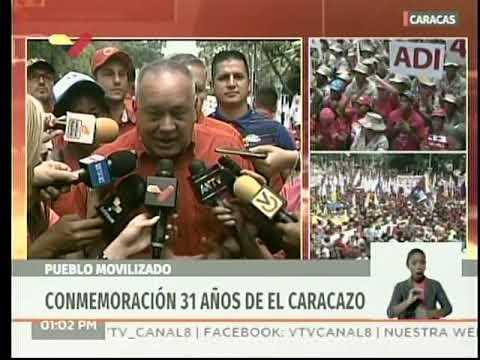 Diosdado Cabello, declaraciones desde la marcha este 27 de Febrero de 2020