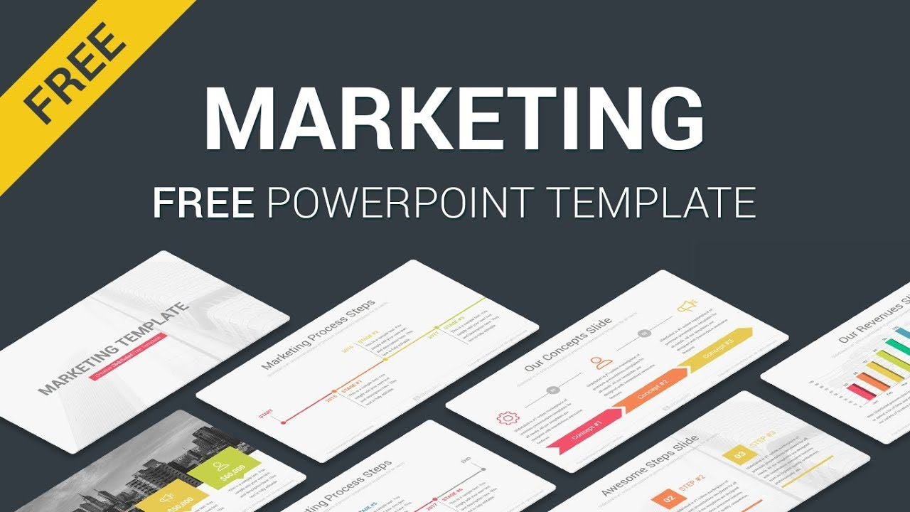 marketing free download powerpoint template slides slidesalad