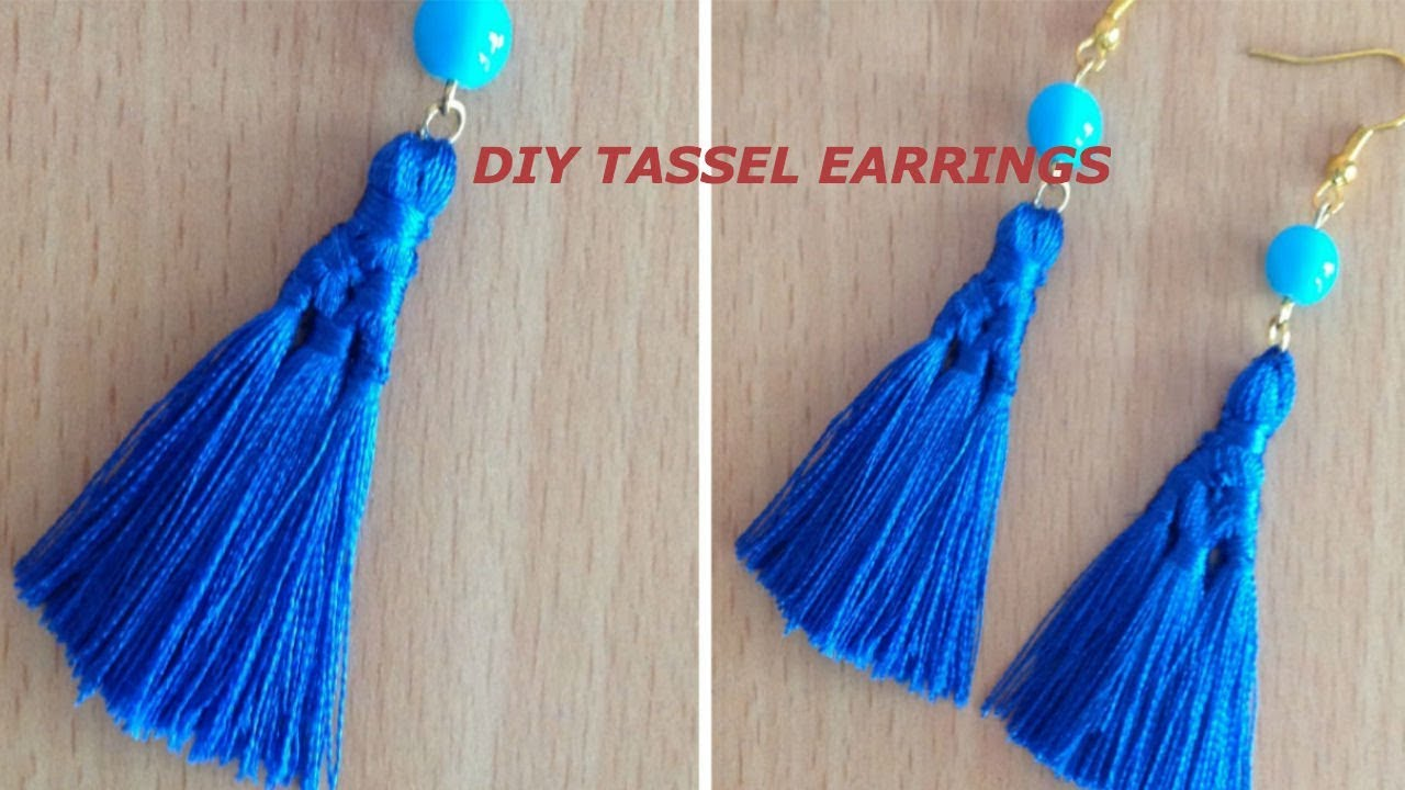 Diy Tassel Earrings Ii Many Tassels In One Tassel Earring