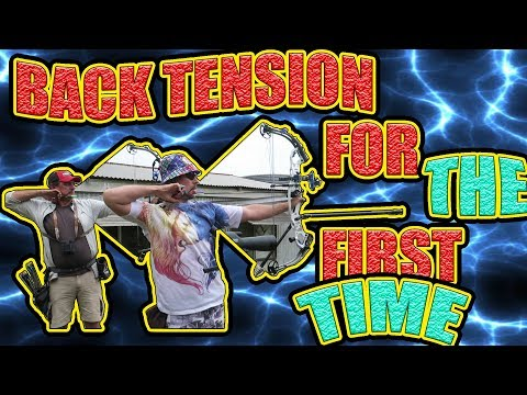 greg shoots a back tension release for the first time