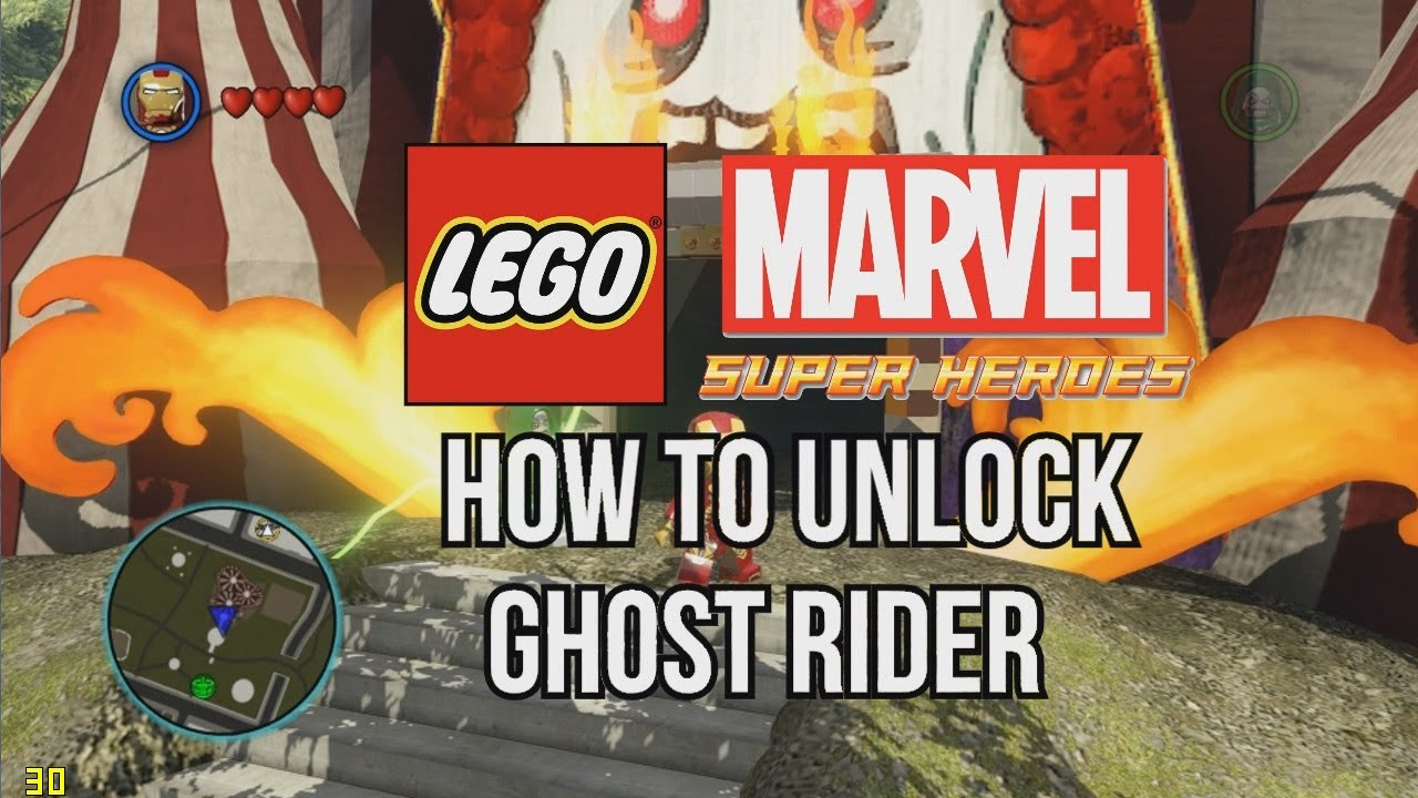 How to Unlock Ghost Rider - LEGO Marvel Super Heroes - YouTube
