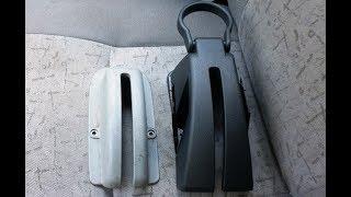 Установка пластиковой облицовки ручного тормоза с подстаканником от Гранты на Калину