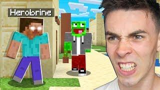 HEROBRINE TROLL na PALIONIE w Minecraft!