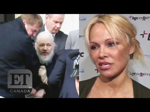 Pamela Anderson Reacts To Julian Assange's Arrest