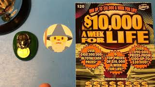 Florida Lottery Scratch Offs -$10,000 a Week for Life