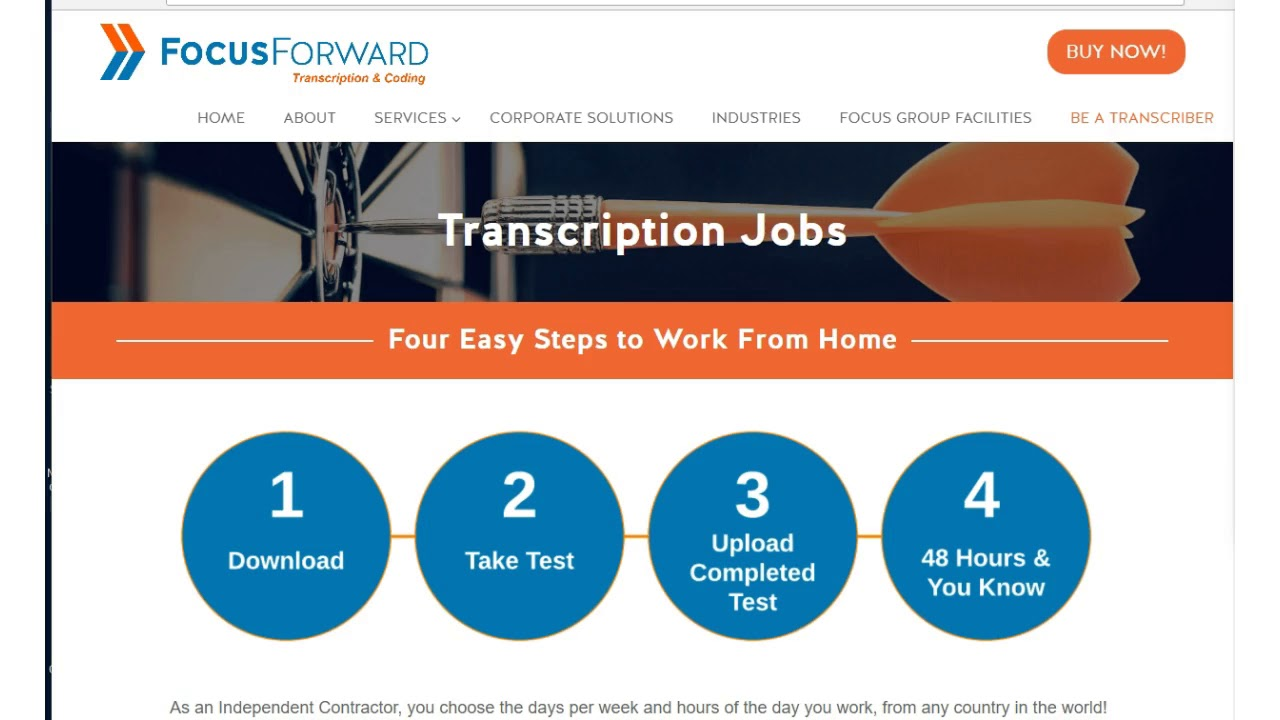 one job minute make up to 60 hr transcribing for focus forward
