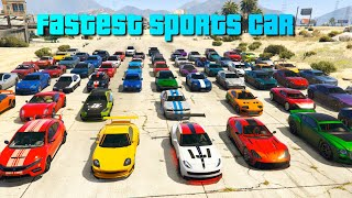 GTA V Which is the fastest sports car 2020 | Top Speed