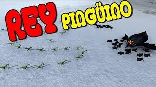 REY PINGÜINO VS DINOSAURIOS | Beast Battle Simulator #3
