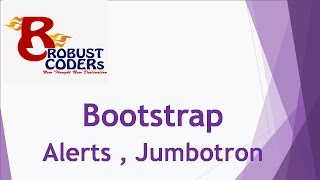 Bootstrap 3 tutorial in hindi part-9| Bootstrap Alerts , Jumbotron| How to create alert in bootstrap