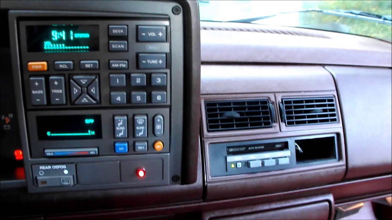 1989 s10 ecm wiring diagram 1994 silverado tape deck youtube  1994 silverado tape deck youtube