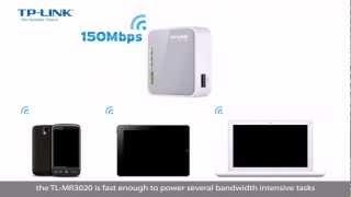 Portable 3G/3.75G Wireless N Router TL-MR3020