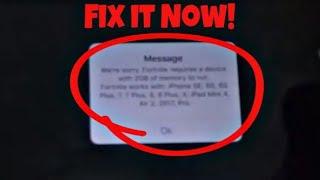 Fortnite iPhone 6 Ram Error Fix with Proof - 100% Working Method