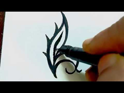 How To Draw Simple Tribal Tattoo Design