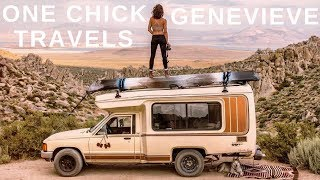 One Chick Travels - Genevieve 🐺 (dirtbag first, climber second)