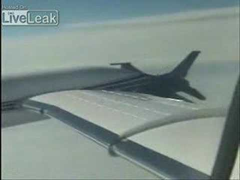 F-16 Intercepting Lear Jet