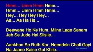 Deewane Ho Ke Hum - Sonu Nigam Hindi Full Karaoke with Lyrics