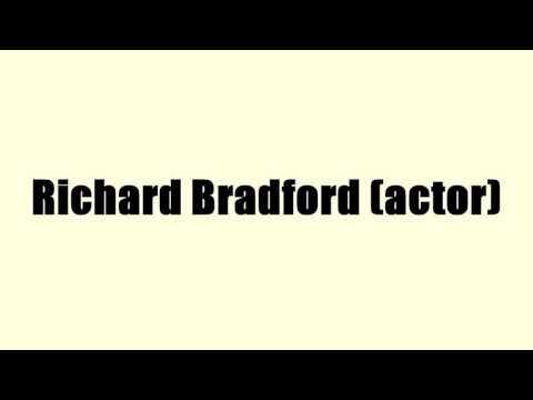 Richard Bradford actor