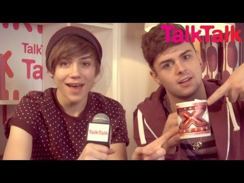 Interview with Union J's George & Jaymi - Backstage with TalkTalk - The X Factor UK 2012