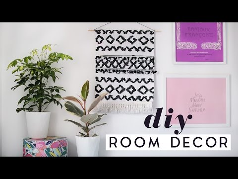 DIY Room Decor Ideas For Spring | DIY Tapestry & Home Decor 2017