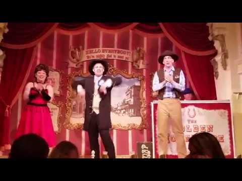 Full show at the Golden Horseshoe at Disneyland!