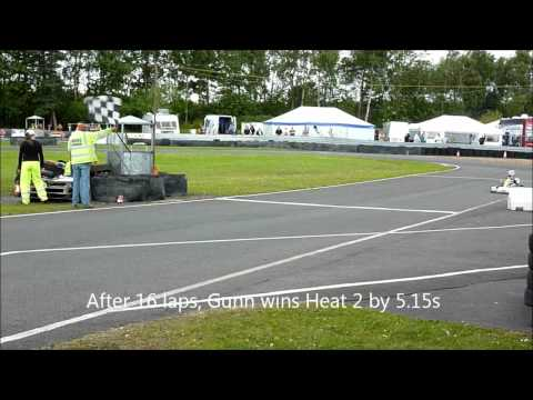 Ross Gunn at Larkhall, Round 4 Super One, Heat 2 ~ 26/6/11