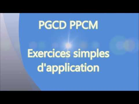PGCD-PPCM - Exercices simples d