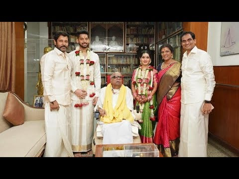 South actor Vikram's daughter marries M Karunanidhi's great grandson