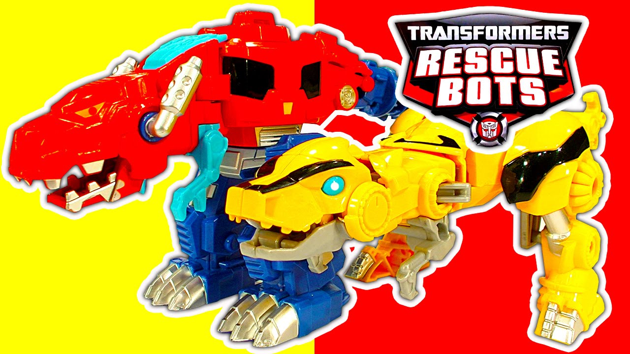 Transformers 1 Step Robot Toys Rescue Bots Dinobots Toy Review Youtube