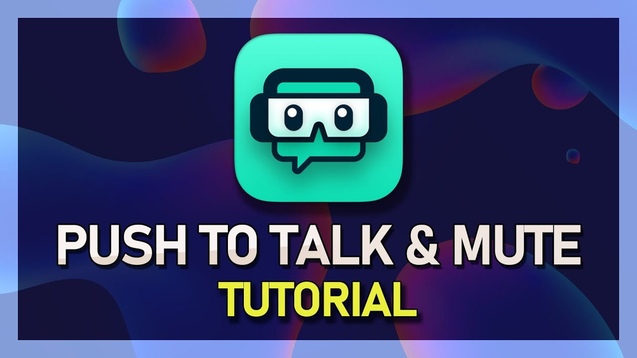 How to use push to talk on obs