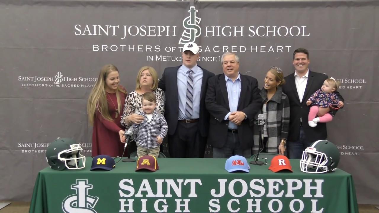 WATCH: N.J.'s top high school football recruit John Olmstead makes his college pick