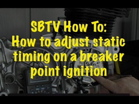 SBTV How To Setting Static Timing On A Breaker Point Ignition