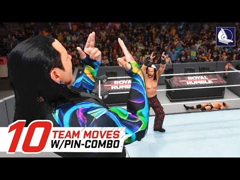 WWE 2K18 Top 10 Team Moves w/ Pin-Combo!