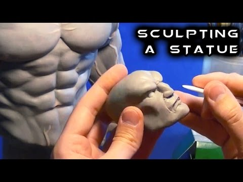 Sculpting a Statue from Scratch with Super Sculpey | Street Fighter | Akuma