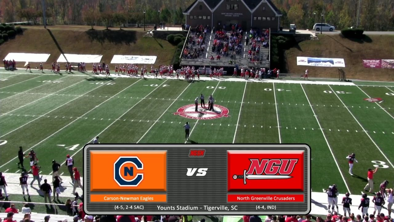 NGU Football 2016 - North Greenville vs. Carson-Newman ...