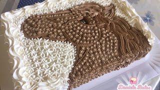 Confeitando bolo cavalo 3D