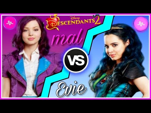 Descendants 2 Mal VS Evie Musical.ly Battle | Dove Cameron and Sofia Carson Best Musically 2017