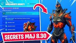 FORTNITE UPDATE SECRETS 8.30 - DEFIS AND RECOMPENSES