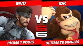 Genesis 6 SSBU -  WBG | MVD (Snake) VS  iDK (Donkey Kong) Smash Ultimate Pools