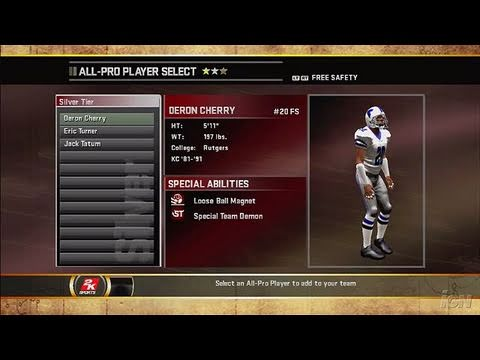 All-Pro Football 2K8 Xbox 360 Gameplay - Building A Team