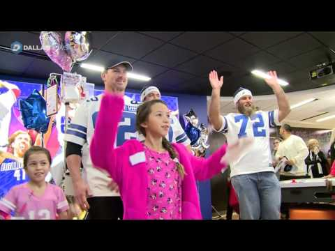 Dallas Cowboys make their annual visit to area children's hospitals