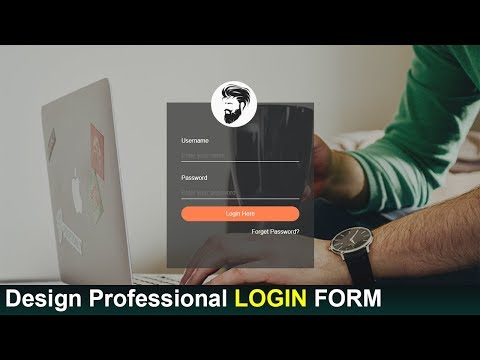 Transparent Login Form In HTML And CSS - Login Form Design  - Make Sign In Form In HTML And CSS