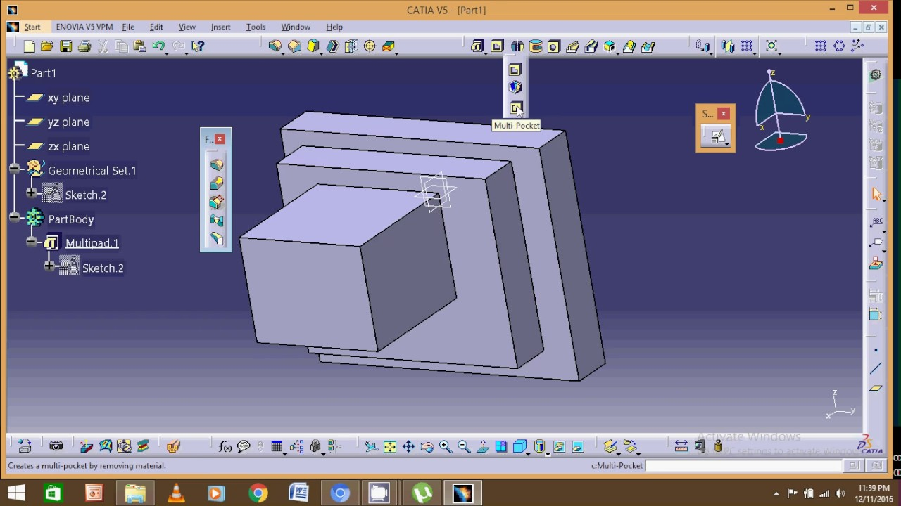 catia part modelling video 6 - YouTube
