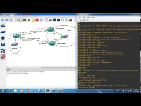 Cisco router WAN Redundancy/WAN Failover and Change Routing dynamicaly Using IP SLA - Route Tracking