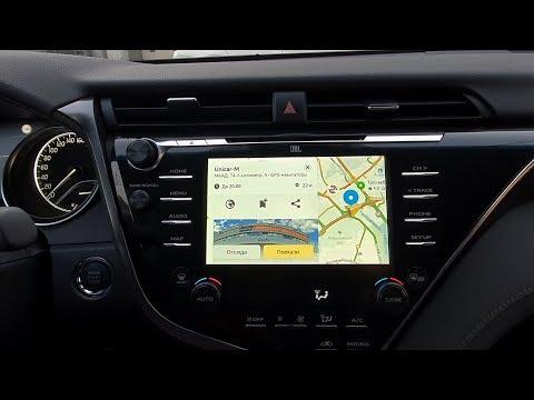Toyota Camry 2018-  V70, TNG3 JBL, установка блока навигации с ОС Андроид 9.0