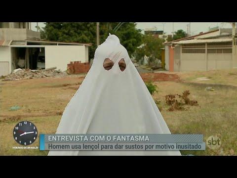 Homem se fantasia de fantasma para dar sustos por motivo inusitado | Primeiro Impacto (06/08/18)