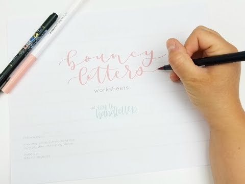 NEW Bounce Lettering Worksheets Now Available | Bouncy Lettering | Bounce Calligraphy for Beginners