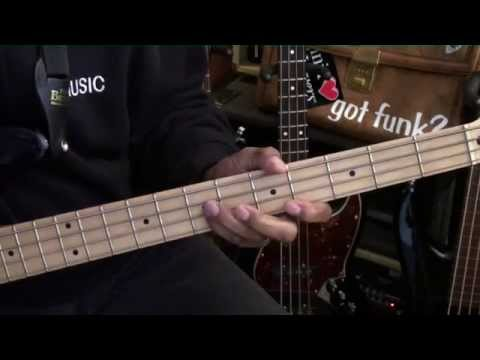How To Play BRICK HOUSE Commodores  On Bass Guitar Lesson EricBlackmonGuitar Funk Bag